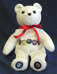 Bingo Bear. Custom logo bears with bingo balls and bingo theme.