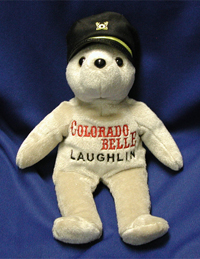 Colorado Belle - Paddleboat Ship's Captain. Custom casino bears for sale.